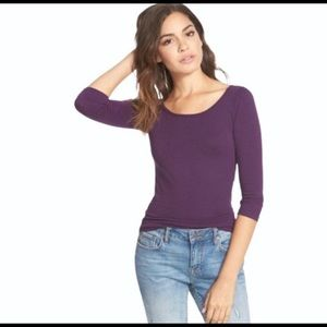 🌟3 FOR $35🌟 Frenchi scoop neck tee